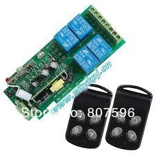 Ac 85V 250V 4 Channel Wireless Rf Remote Control Radio Controller