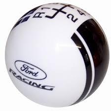 black ford racing logo. ford rally ii racing logo white black new 6 speed shift knob