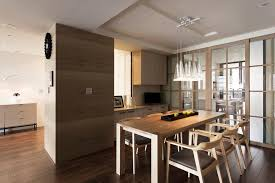 architecture small clic apartment dining room with brown interior decoration ideas plus wooden table for