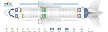 A320 Airbus 100 200 Seating Chart Allegiant Air Fleet Airbus A320 200 Aircraft Details And