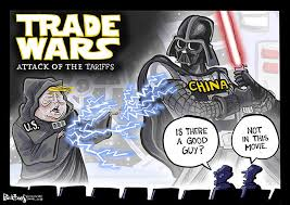 Image result for trump china trade cartoon