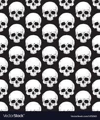 Skull Pattern Extraordinary Skull Pattern 48 Royalty Free Vector Image VectorStock
