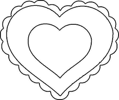 Small Picture Scalloped Heart Coloring PageHeartPrintable Coloring Pages Free