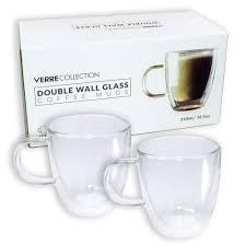 double wall glass espresso latte cappuccino mug coffee cup set of 2 10 5 oz best canada