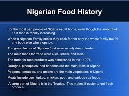 Nigerian's Fast Food