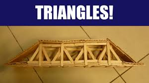 Popsicle Stick Bridge Designs How To Build A Strong Popsicle Stick Truss Bridge With Triangles