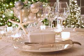 ... Stunning Image Of Wedding Table Decoration With White And Gold Table  Centerpiece : Charming Accessories For ...