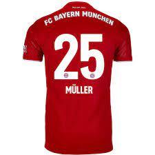 2020/21 adidas Thomas Muller Bayern Munich Home Jersey - SoccerPro
