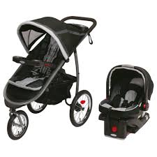graco fastaction fold jogger travel system stroller and car seat gotham