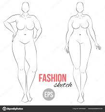 Drawings Curvy Girl Drawing Size Model Curvy Body Woman