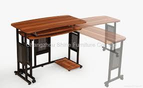 adjule laptop computer desk with folding side panel regarding folding computer desk decorate arpandeb com