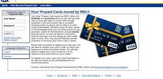 rbc visa prpaid gift card