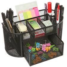 Desk Organizer Callas Metal Mesh Desk Organizer Black Plus Free 1 Set Of Sticky