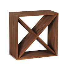 wooden wine rack system cube 50 x