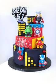 Avengers Birthday Cake Food Drinks Baked Goods On Carousell