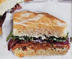 roast beef sandwich recipe. Interesting Roast Roast Beef Sandwiches With LemonBasil Mayonnaise And Roasted Red Onions  Recipe  Epicuriouscom Inside Sandwich Recipe