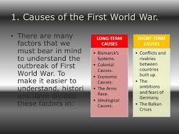 term causes of world war essay short term causes of world war 1 essay