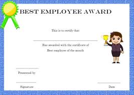 Free Employee Of The Month Certificate Template Fascinating Elegant And Funny Employee Of The Month Certificate Templates Free