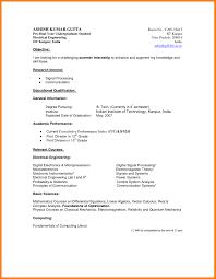Sample Undergraduate Resume Resume Format Undergraduate Resume Templates