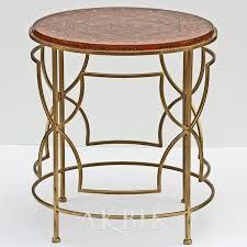 t325 round mosaic side table inlaid with mother of pearl