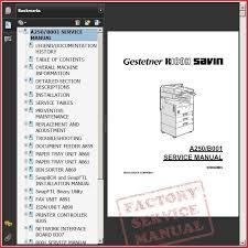 ricoh aficio aficio service and repair manual ricoh a250 b001 service manual bookmark 1