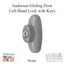 andersen left hand exterior tribeca lock with keys for frenchwood sliding door stone
