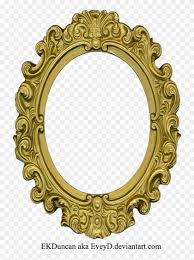 ornate gold frame old round frame