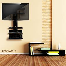 tv wall mount with three shelves tv
