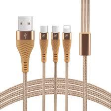 OEM Ce <b>Hot Selling</b> Nylon Braided Micro Type C iPhone 3 in 1 <b>USB</b>