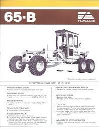 tractors fiat fiat allis fiat allis 65 b grader original specs brochure
