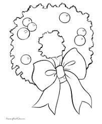 Wreaths And Flowers Christmas Coloring Pages
