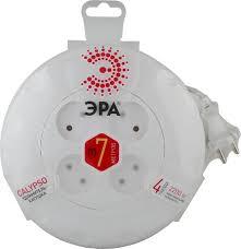 <b>Удлинитель ЭРА без</b> заземления, 4 розетки, UR-4-7m-W, белый ...
