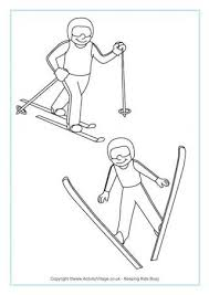 Printable winter coloring pages are a truly tricky challenge for children. Winter Olympics Colouring Pages