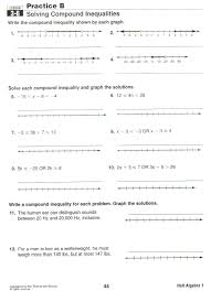 solving and graphing inequalities practice worksheet by algebra