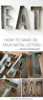Industrial style faux metal letters - learn how to make these DIY  galvanized metal letters using