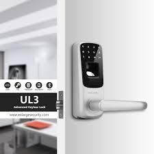 Ultraloq UL3 Fingerprint and Touchscreen Keyless Smart Lever Door ...