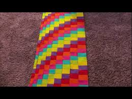 Bargello Quilt Patterns Simple Bargello Quilt Tutorial YouTube
