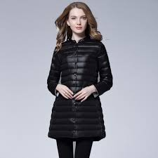 Light Down Jacket Womens Us 24 32 62 Off Newbang Brand Womens Down Jackets Ultra Light Down Jacket Women Portable Female Jacket Long Feather Slim Parkas Stand Collar In Down