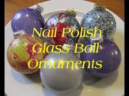 diy nail polish glass ball ornaments