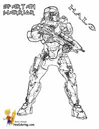 Heroic Halo 4 Coloring Pages Halo 4 Free Master Chief