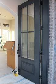 Small Picture Door painted in Benjamin Moore Wrought Iron One of the best dark
