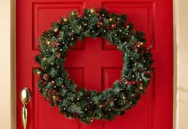 Outdoor Lighted Wreath Classy Outdoor Lighted Wreaths Outdoor Lighting Ideas