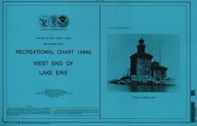Noaa 14846 Small Craft Book Chart West End Of Lake Erie Book Of 34 Charts Various