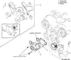18 water pump assembly 3 0l engine