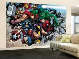 marvel comics wall mural