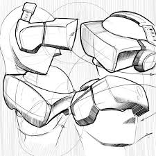 industrial design sketches. Wonderful Design Concept Idsketchwater Sketch Drawing Blender Design New Zealand VR Virtual  Reality Goggles To Industrial Design Sketches