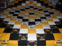 44 best Team Quilt Ideas images on Pinterest | Baby quilts ... & Handmade Pittsburgh Steelers King-Size Quilt & 2 Shams (Personalized  Embroidered Name Free) Adamdwight.com