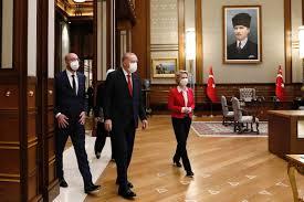 Charles Michel e Ursula von der Leyen alla corte di Erdogan ad Ankara. Le  foto - Formiche.net