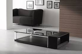 Contemporary Glass Top Coffee Tables Wenge Finish Contemporary Coffee Table W Dark Glass Top