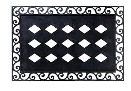 evergreen rubber scroll embossed floor mat frame 36 x 24 inches extend a warm welcome to all who enter your home by evergreen garden from usa